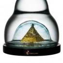 NOVINKA Karafa ViaHuman 1,4l AURUM GOLD BLUE GLASS