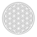 Natures Design Mísa PATERA malá (14 cm)  s bílým symbolem květu života