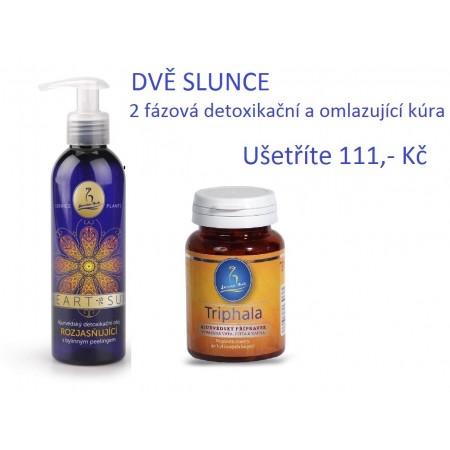 DVĚ SLUNCE ájurvédská 2-fázová detoxikační kúra Service-Plants s TRIPHALA a HEART-SUN olej