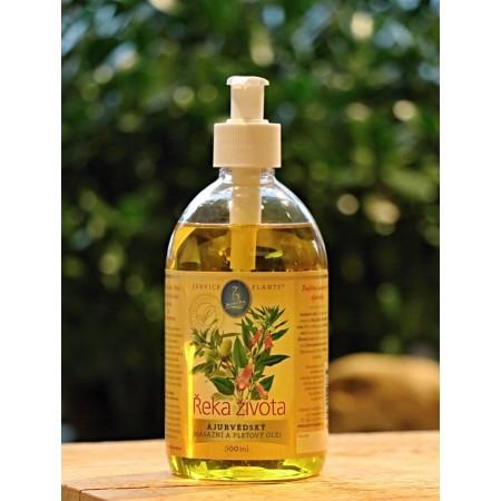 Service-Plants ájurvédský pleťový a tělový masážní olej ŘEKA ŽIVOTA 500ml