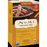 Numi čaj bio kurkumový Amber Sun se skořicí a vanilkou, 12 sáčků
