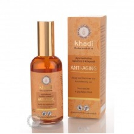 Khadi pleťový a tělový olej ANTI-AGING - PROTI STÁRNUTÍ PLETI 100ml