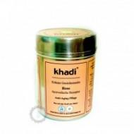 Khadi bylinná pleťová maska RŮŽE - ANTI-AGING - PROTI STÁRNUTÍ PLETI 50g