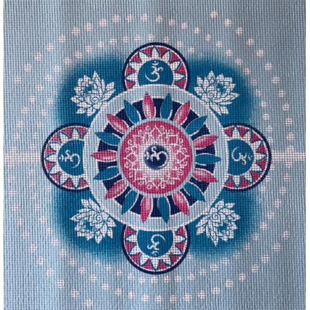 Yogavila Podložka na jógu - MANDALA, modrá