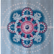 AKCE-Yogavila Podložka na jógu - MANDALA, modrá