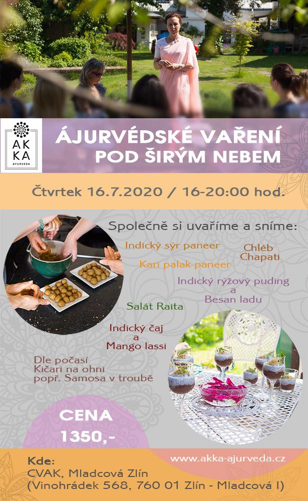 Ájurvédské vaření pod širým nebem v ČERVENCI
